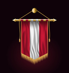 Flag of austria festive vertical banner wall vector