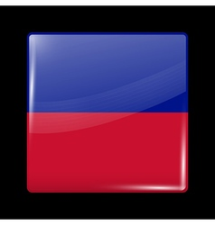 Flag of Haiti Glossy Icon Square Shape vector