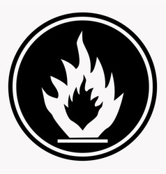 flammable caution sign fire isolated danger vector image vector image