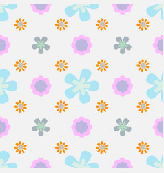 floral seamless pattern in doodle style with vector image