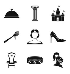 Gaiety icons set simple style vector