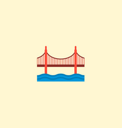 golden gate icon flat element vector image