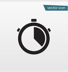 gray accurate time icon modern simple flat stop w vector image