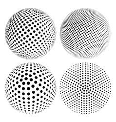 Halftone 3D Sphere vector