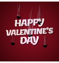 Happy Valentines Day Cupid shoots bullets of vector image