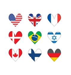 heart-shaped flags vector image