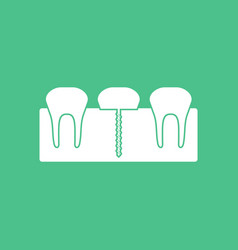 Icon teeth and gum vector