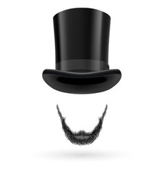 Invisible man in top hat vector