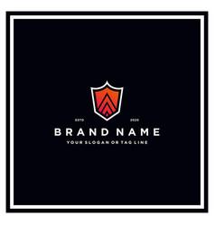 Letter a shield logo design vector