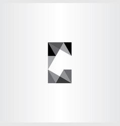 letter c geometric icon element design vector image