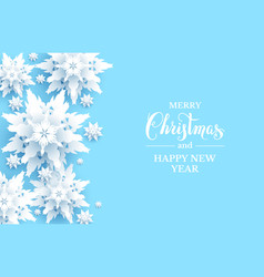 light blue snowflakes card vector image