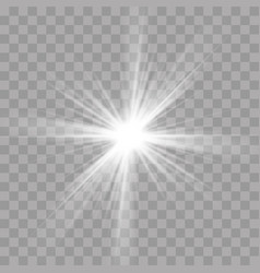 light rays flash effect of sun star shine radiance vector image