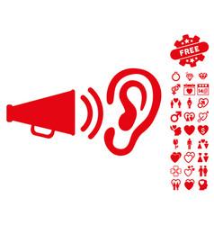 Listen sound icon with lovely bonus vector
