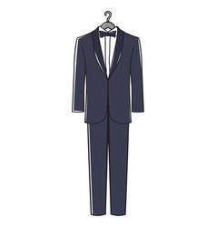 Mans suit vector