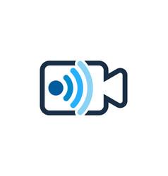 Media wifi logo icon design vector