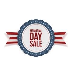 Memorial Day Sale patriotic Emblem and Ribbon vector