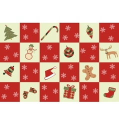 merry christmas seamless background vector image