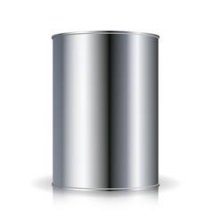 Metallic cans food tincan ribbed metal tin vector
