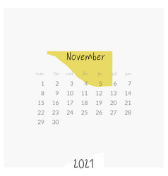 Modern template printable 2021 calendar vector