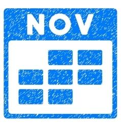 November Calendar Grid Grainy Texture Icon vector