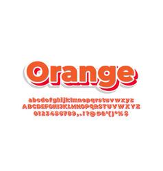 Orange 3d font or text effect design template vector