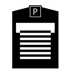 Parking garage icon simple style vector