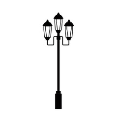Pictogram lamp post light street vector
