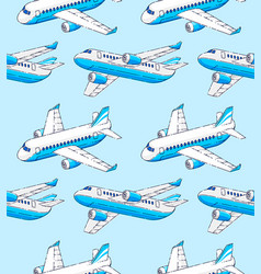 Planes seamless background airlines air travel vector