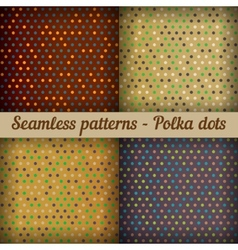 Polka dots Set of seamless patterns Abstract vector image