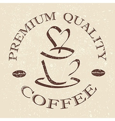 Quality coffee label stamp design element vector