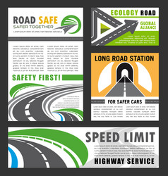 road transportation eco construction industry vector image