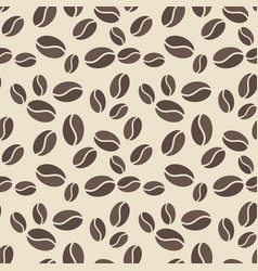 seamless pattern with brown coffee beans vector image