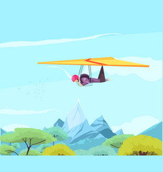 Skydiving sport gliding poster vector