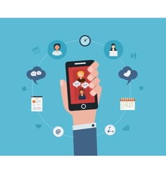 Social network and teamwork vector