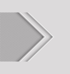 Soft grey arrow direction with circle mesh vector