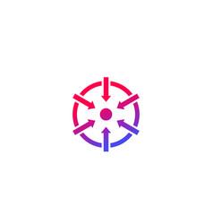 Specific icon with arrows vector