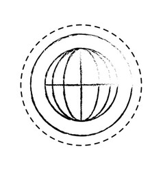 sphere planet isolated icon vector image vector image