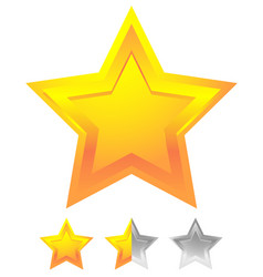 Star icon for rating ranking quality concepts vector