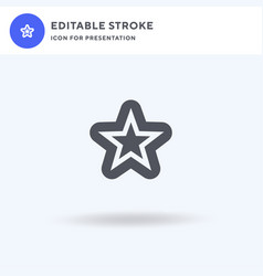 starfish icon filled flat sign solid vector image