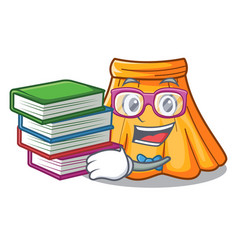 student with book skirt in a on character vector image