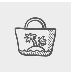 Summer bag sketch icon vector