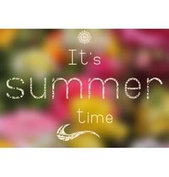 Summer print - summer time vector