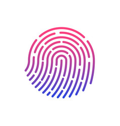 touch id fingerprint recognition vector image