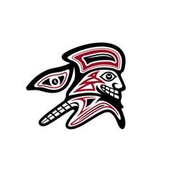 trailblazer in pacific native american style vector image