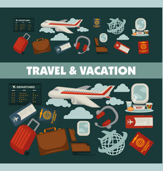 travel poster for holiday vacation and summer air vector image