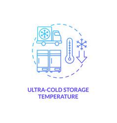 Ultra cold storage temperature concept icon vector