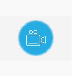 video camera icon sign symbol vector image