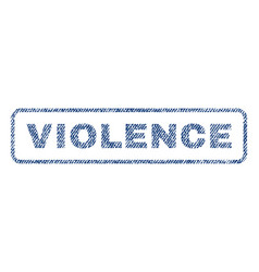 violence textile stamp vector image