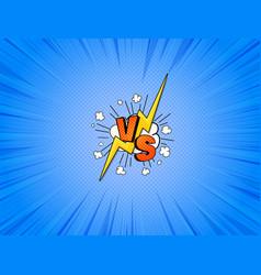 Vs comics vector