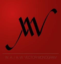 WA AW logo monogram vector image